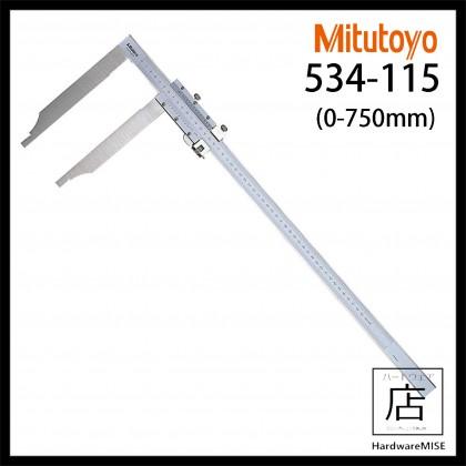 MITUTOYO 534-115 LONG JAW VERNIER CALIPER DEEP JAW CALIPER MADE IN JAPAN 750mm