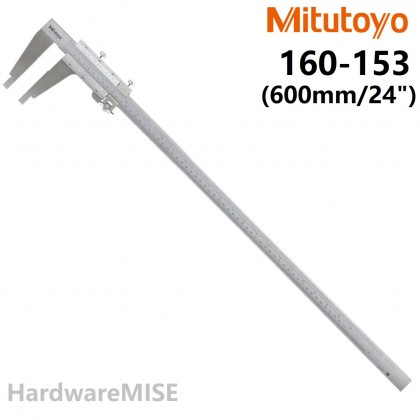 "MITUTOYO 160-153 NIB JAW FINE ADJUSTMENT VERNIER CALIPER 600mm 24"" MADE IN JAPAN"