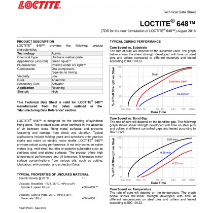 Loctite 648 High Strength Retaining Compound 50ml Henkel 32717 Malaysia Supplier