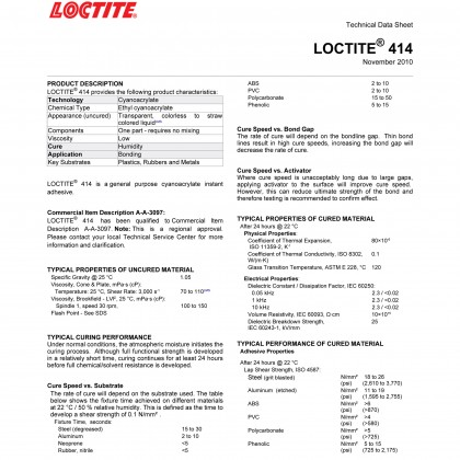 Loctite 414 Instant Adhesives Super Glue 25635 20g by Henkel